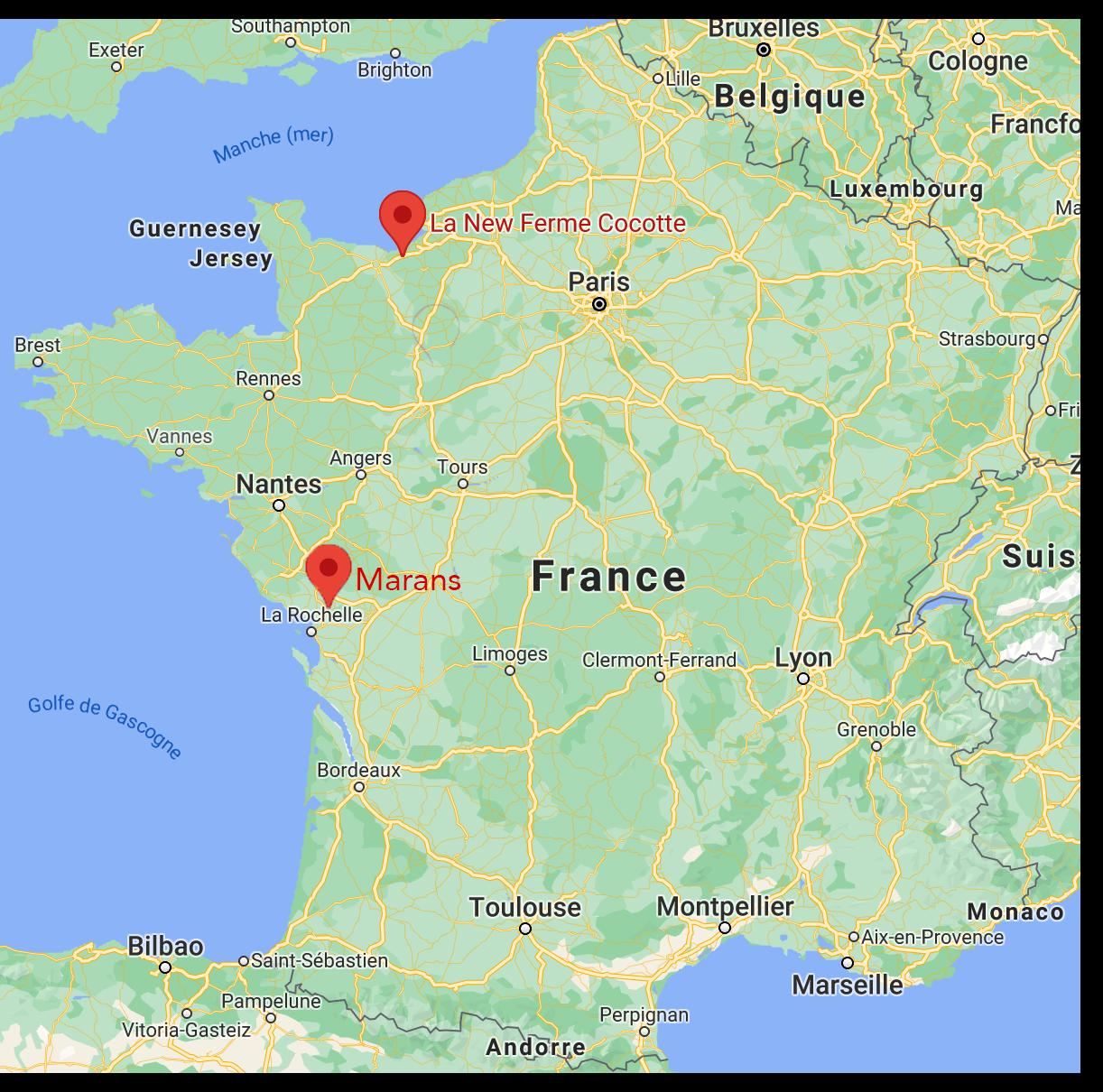 Map marans